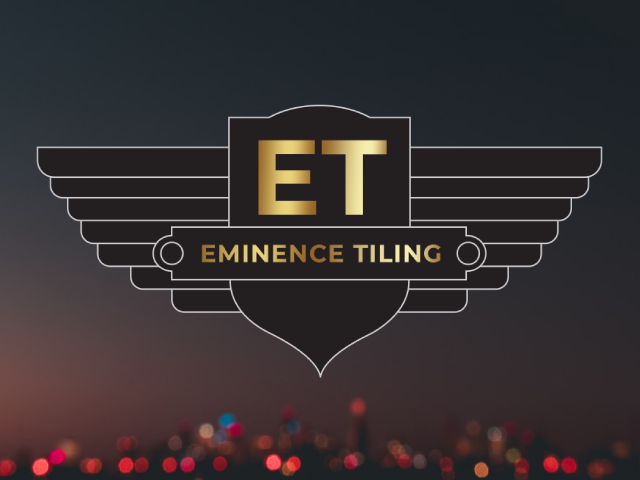 Eminence Tiling youtube video with logo in the middle on a black background